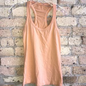Lululemon pale orange tank top